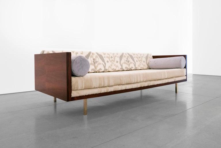 Mid-Century Modern Milo Baughman, Rosewood Case Sofa, circa 1950 - 1959 For Sale