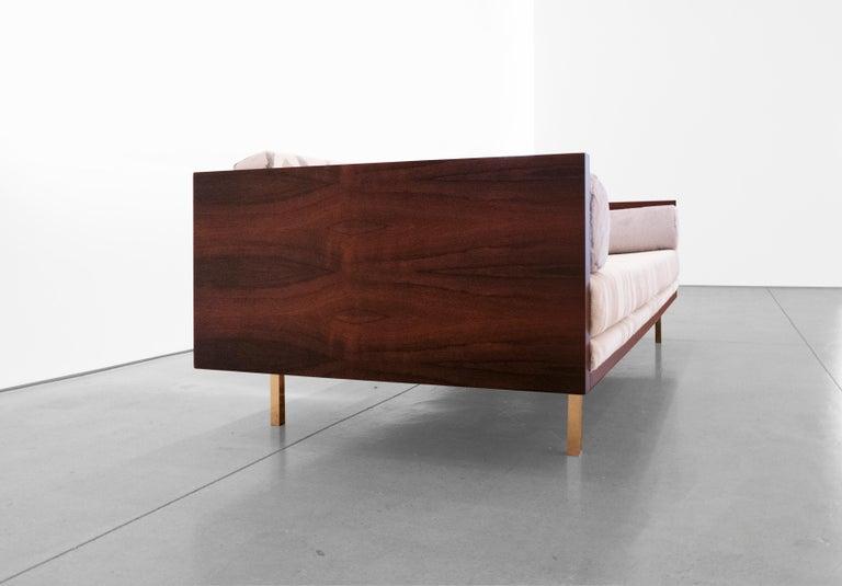 Milo Baughman, Rosewood Case Sofa, circa 1950 - 1959 In Excellent Condition For Sale In LAGUNA BEACH, CA