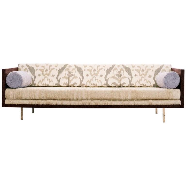 Milo Baughman, Rosewood Case Sofa, circa 1950 - 1959 For Sale