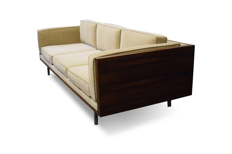 Mid-Century Modern Milo Baughman Rosewood Case Sofa For Sale