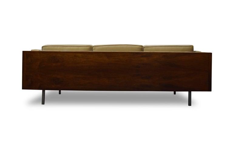 Milo Baughman Rosewood Case Sofa For Sale 1
