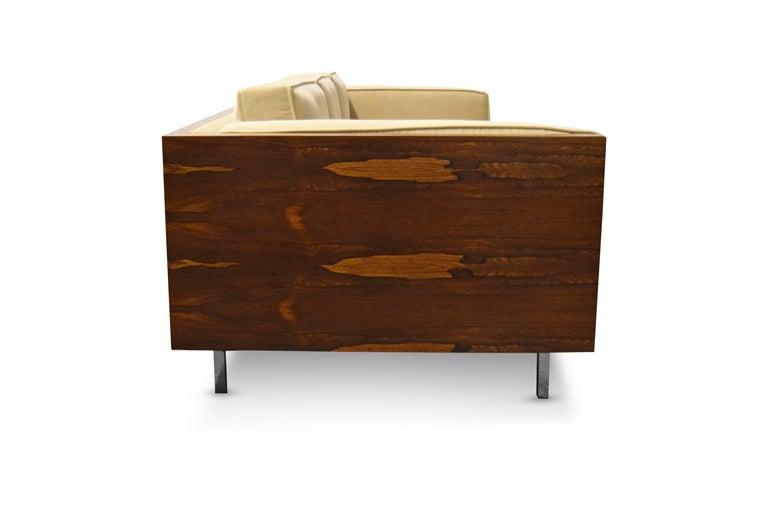 Milo Baughman Rosewood Case Sofa For Sale 2