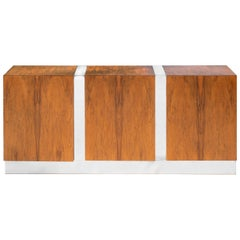 Milo Baughman Rosewood and Chrome Credenza Sideboard for Thayer Coggin