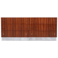 Milo Baughman Rosewood & Chrome Dresser for Thayer Coggin