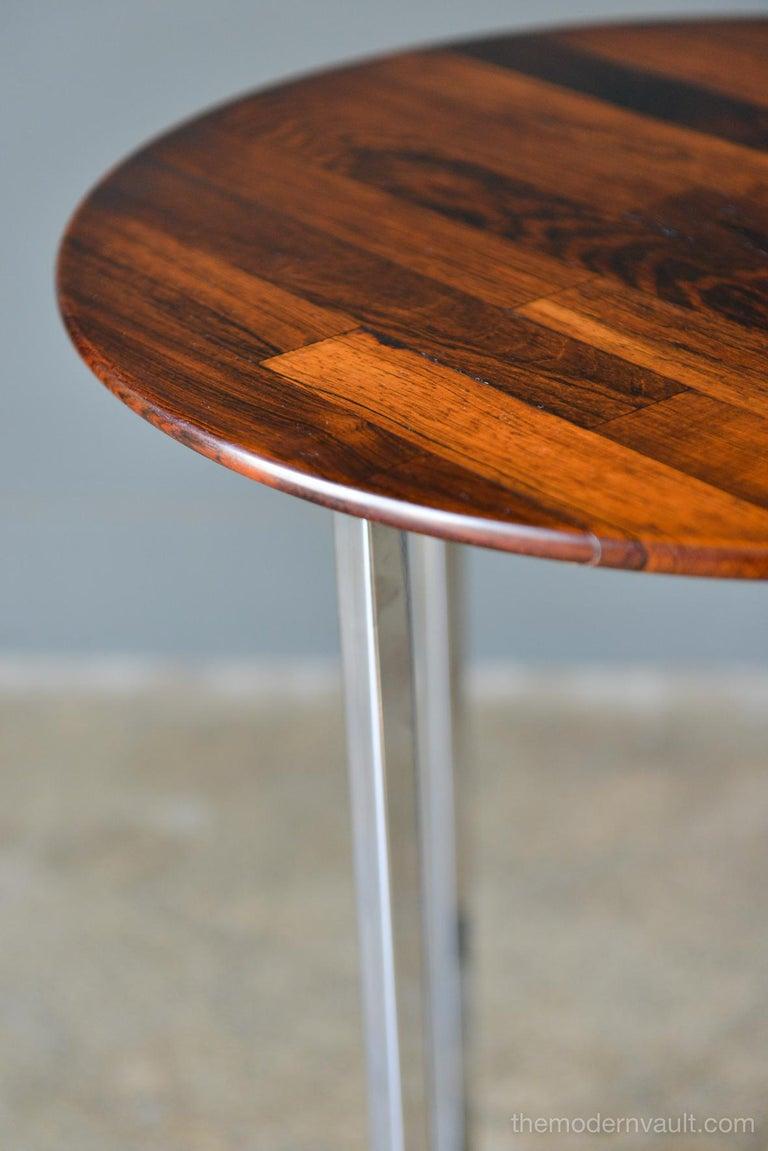 Milo Baughman Rosewood Parquet Side Table, circa 1970