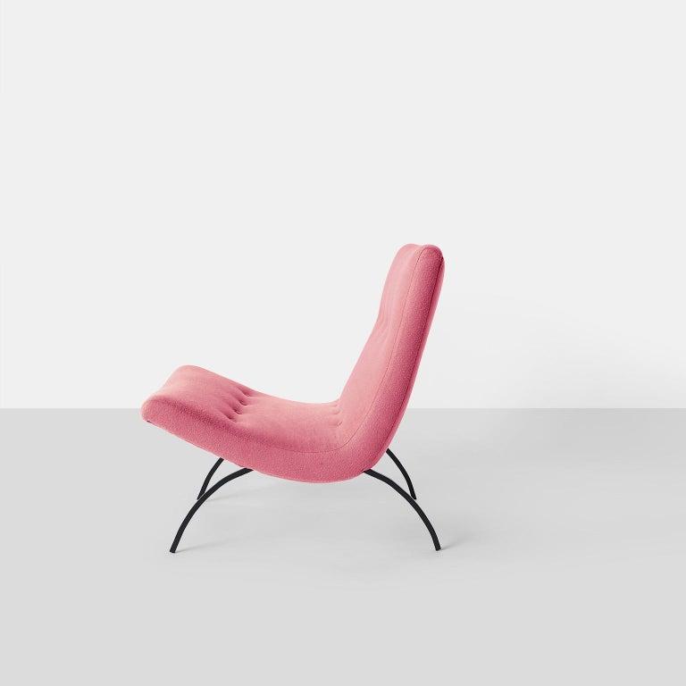 American Milo Baughman Scoop Chair For Sale
