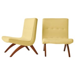 Milo Baughman Scoop Chairs