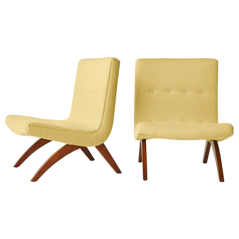 Milo Baughman Scoop Chairs For Sale