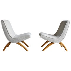 Milo Baughman Scoop Chairs for Thayer Coggin circa 1955