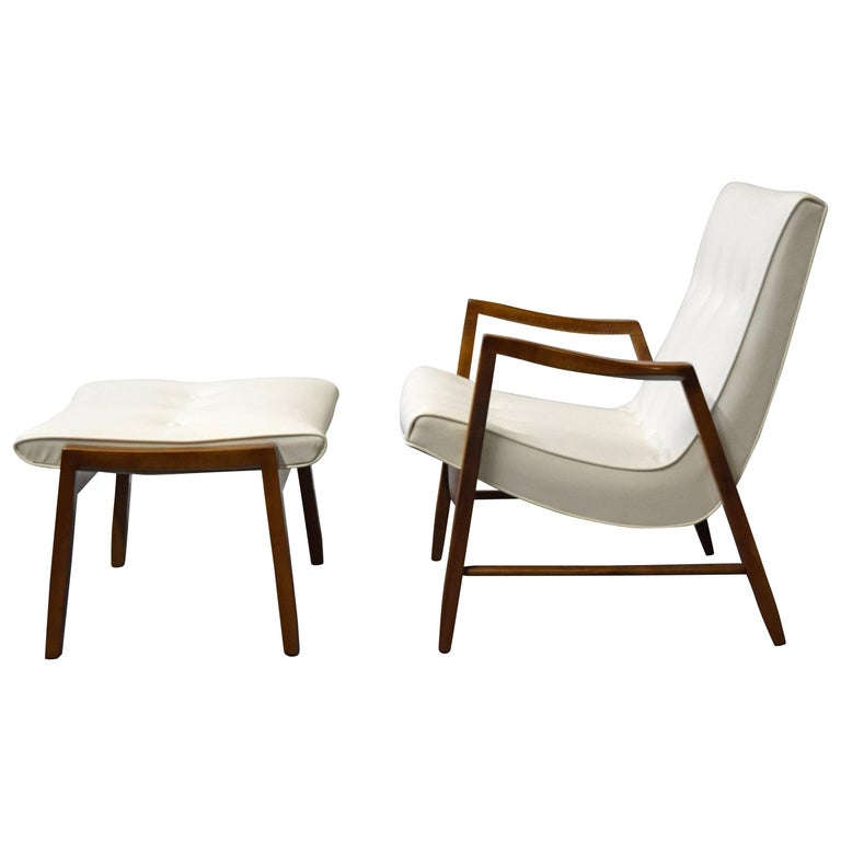 Milo Baughman Scoop Lounge Chair and Ottoman For Sale