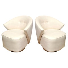 Milo Baughman Sculptural Swivel Lounge or Side Chairs Vintage