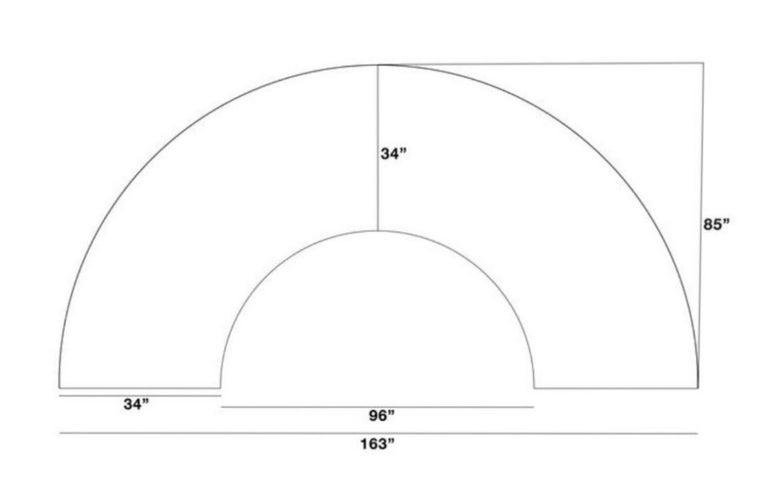 Milo Baughman Semi-Circular Sectional Sofa for Thayer Coggin 2