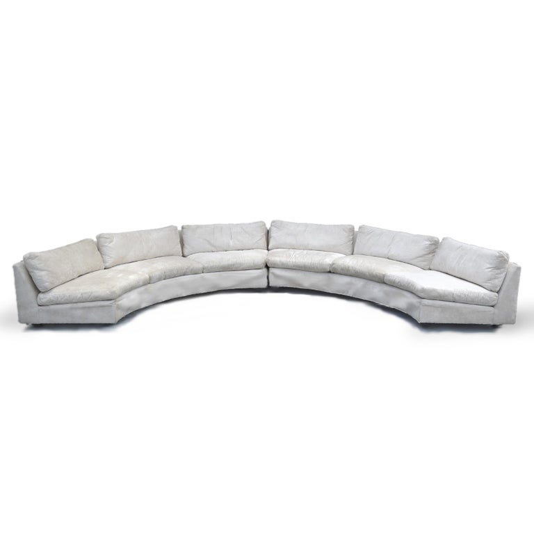 Mid-Century Modern Milo Baughman Semi-Circular Sofa by Thayer Coggin For Sale