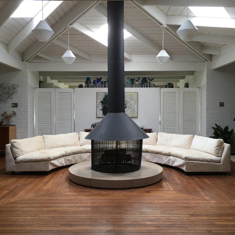 American Milo Baughman Semi-Circular Sofa by Thayer Coggin For Sale