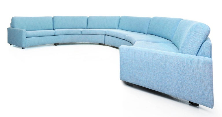 Mid-Century Modern Milo Baughman Semi-Circular Sectional Sofa for Thayer Coggin