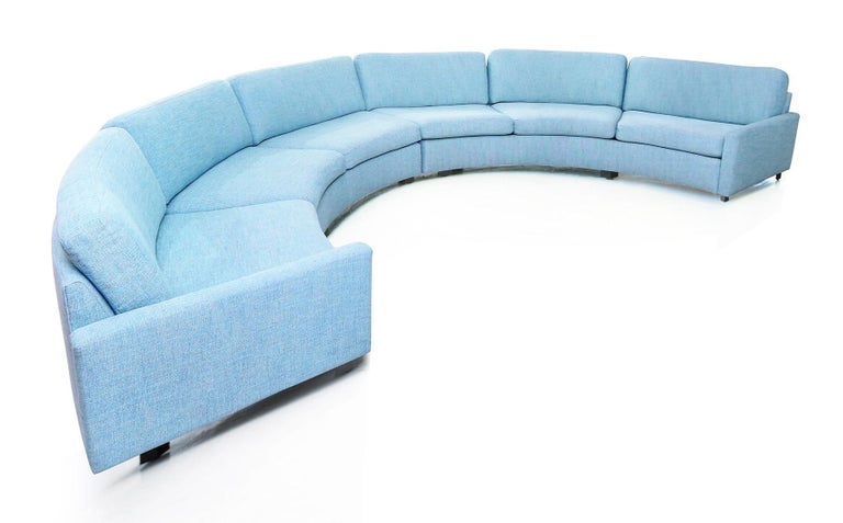 American Milo Baughman Semi-Circular Sectional Sofa for Thayer Coggin