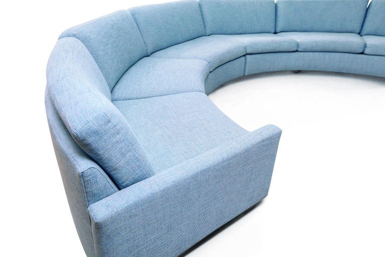 Milo Baughman Semi-Circular Sectional Sofa for Thayer Coggin In Excellent Condition In Saint Louis, MO