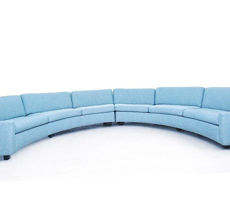 Upholstery Milo Baughman Semi-Circular Sectional Sofa for Thayer Coggin