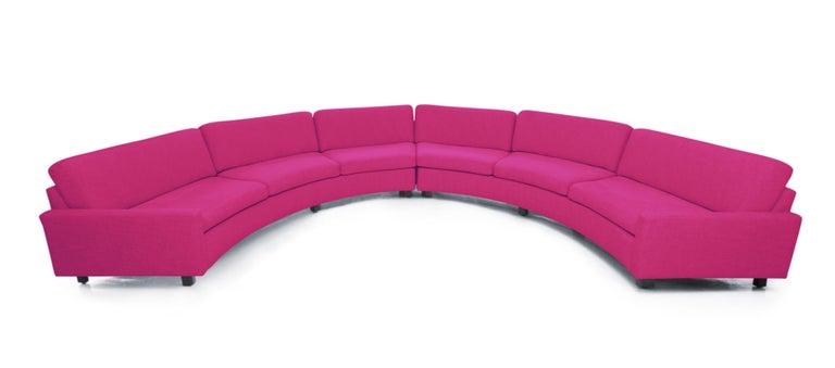 Milo Baughman Semi-Circular Sectional Sofa for Thayer Coggin 1