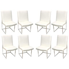 Milo Baughman Set Of 8 Architectural Dining Chairs