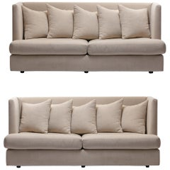 Milo Baughman Ivory /  Beige Shelter Sofa (Pair Available; Priced Individually)