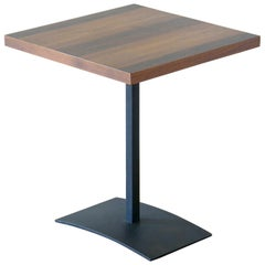 Milo Baughman Side Table for Directional with Arched Base and Ombré Veneer Top