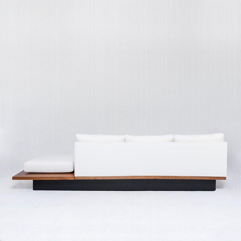 Wood Milo Baughman Sofa - USA, 1970s For Sale