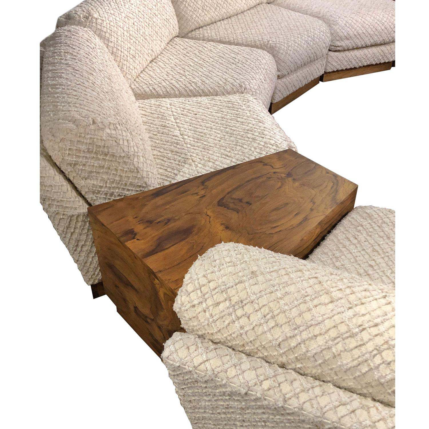 Windsor Sectional Sofa Couch and End Tables Set, Milo Baughman Style ...
