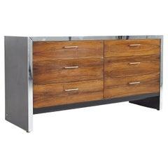 Milo Baughman Style Broyhill Premier Mid Century 6 Drawer Lowboy Dresser