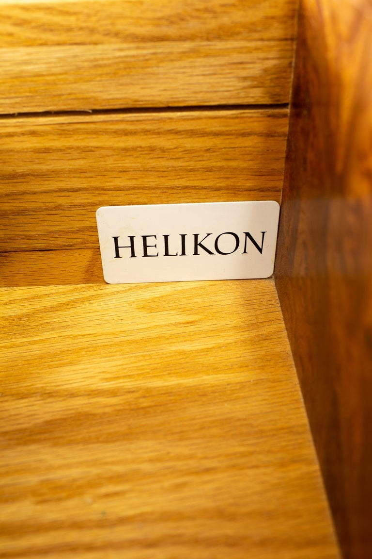 Milo Baughman Style Helikon Midcentury Burl Wood Sideboard Credenza For Sale 6