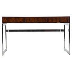 Milo Baughman Style Three-Drawer Rosewood Desk
