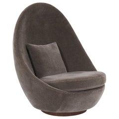 Milo Baughman Swivel and Tilt Egg Chair