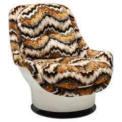 Milo Baughman Swivel Lounge Chair for Thayer Coggin Space Age