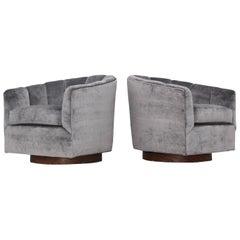 Milo Baughman Swivel Lounge Chairs