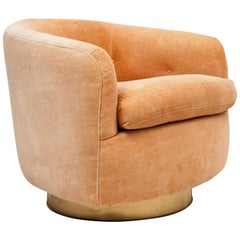 Milo Baughman Swivel Tub Chair in COM