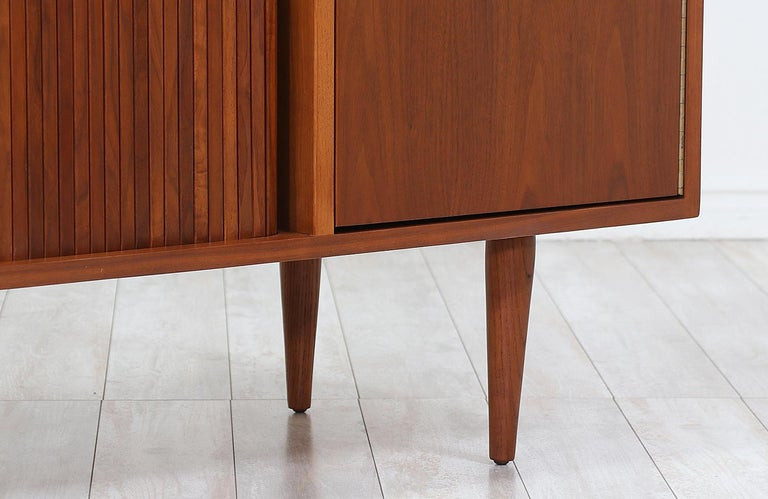 Milo Baughman Tambour-Door Credenza with Lacquered Drawers for Glenn of Cal. For Sale 2
