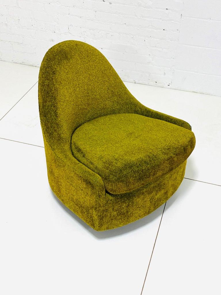 Mid-Century Modern Milo Baughman Tear Drop Swivel Lounge Chair