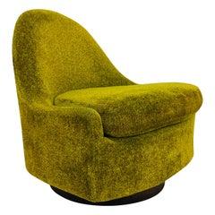 Milo Baughman Tear Drop Swivel Lounge Chair