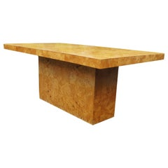 Milo Baughman Thayer Coggin Burl Wood Dining Table with Leaves