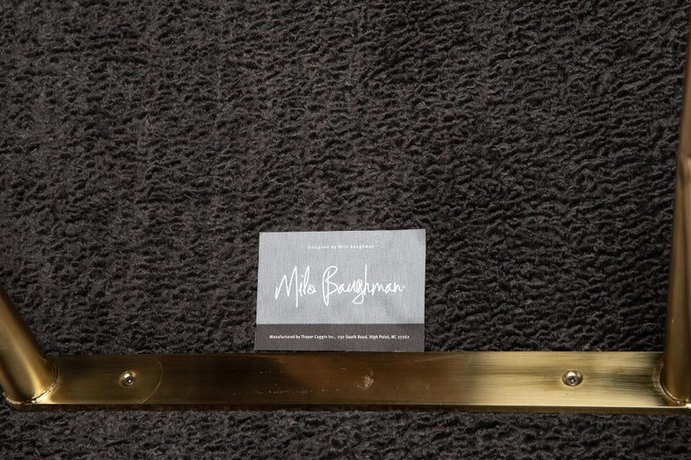Contemporary Milo Baughman Thayer Coggin Chaise Lounge in Faux Sheepskin For Sale