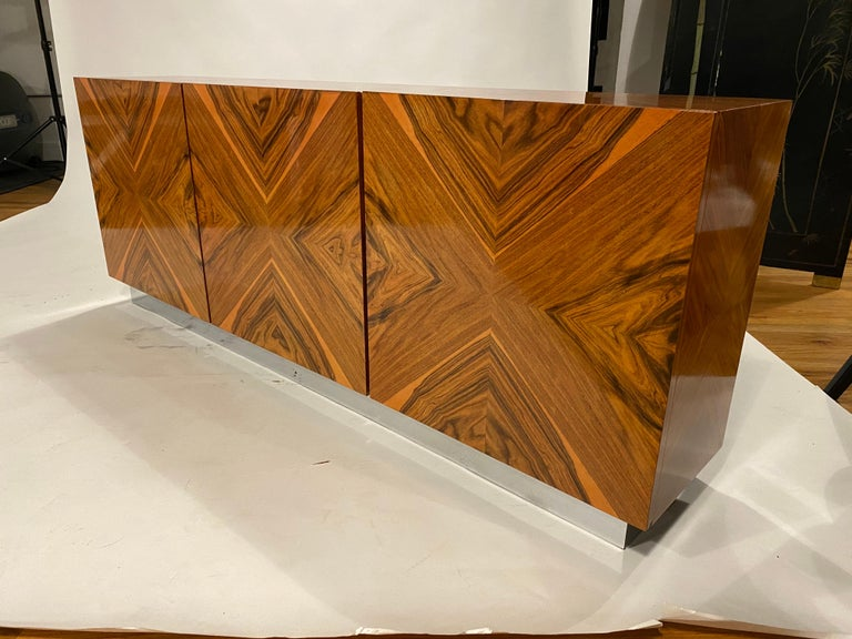 Milo Baughman Thayer Coggin Rosewood Wall Mounted Cabinet For Sale 4