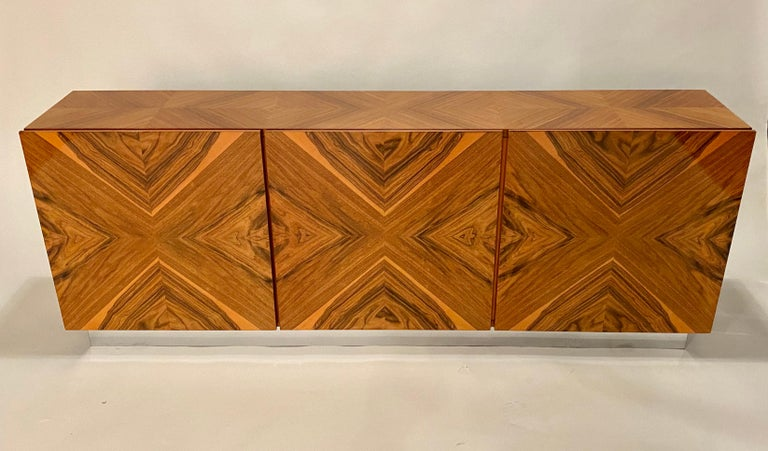 Mid-Century Modern Milo Baughman Thayer Coggin Rosewood Wall Mounted Cabinet For Sale