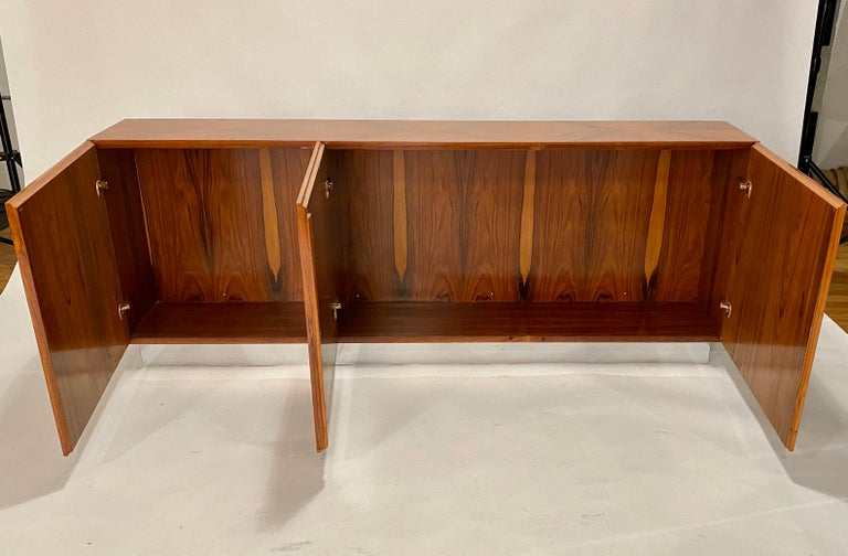 American Milo Baughman Thayer Coggin Rosewood Wall Mounted Cabinet For Sale