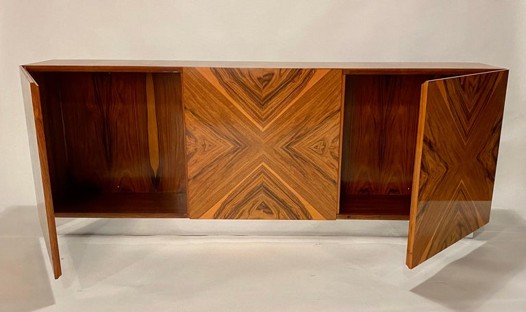 Lacquered Milo Baughman Thayer Coggin Rosewood Wall Mounted Cabinet For Sale