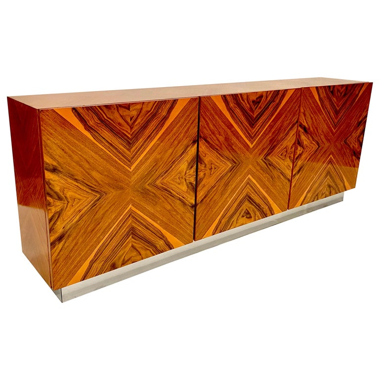 Milo Baughman Thayer Coggin Rosewood Wall Mounted Cabinet For Sale