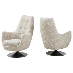 Milo Baughman, Thayer Coogin Swivel Club Chairs