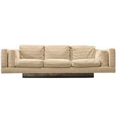 Milo Baughman Three-Seat Sofa with Metal Base