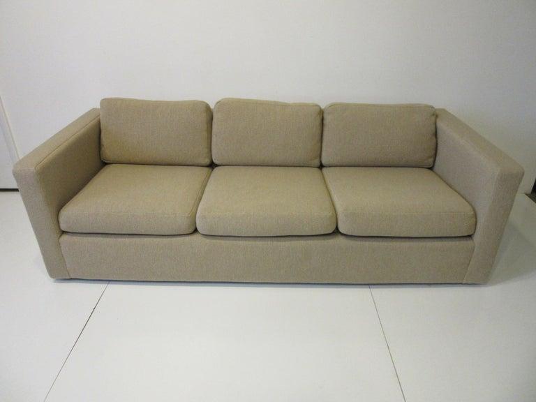 Milo Baughman Tuxedo Styled Sofa for Thayer Coggin For Sale 3