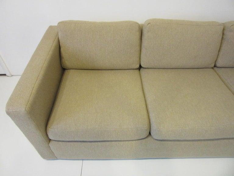 American Milo Baughman Tuxedo Styled Sofa for Thayer Coggin For Sale
