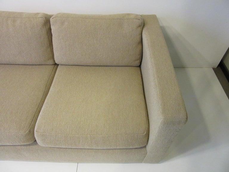 Milo Baughman Tuxedo Styled Sofa for Thayer Coggin In Good Condition For Sale In Cincinnati, OH